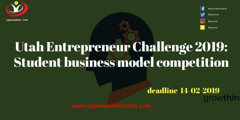 Utah Entrepreneur Challenge 2019: Student business model competition