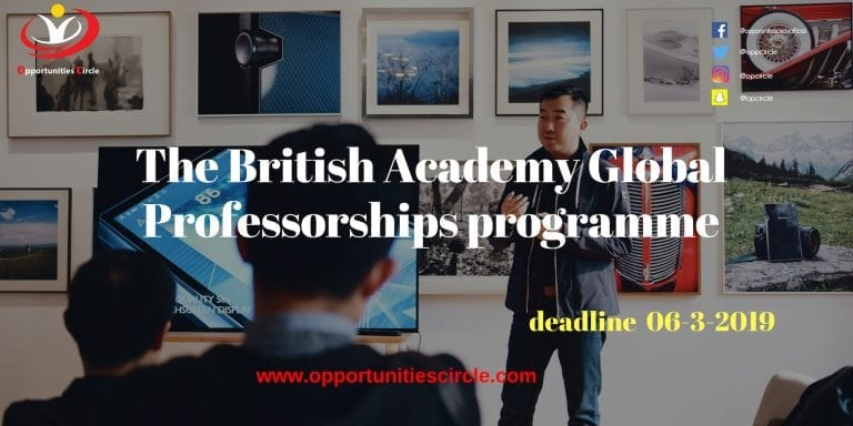 The British Academy Global Professorships programme (1)