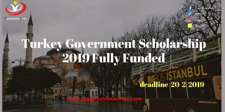 Turkey Government Scholarship 2019 Fully Funded