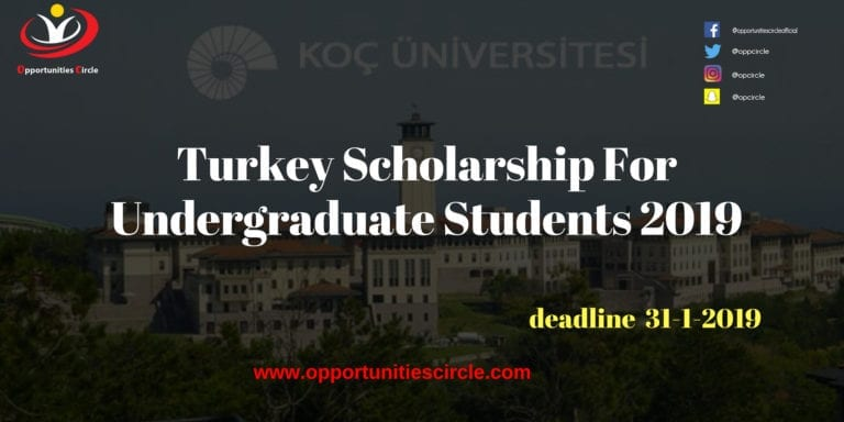 Turkey Scholarship For Undergraduate Students 2019