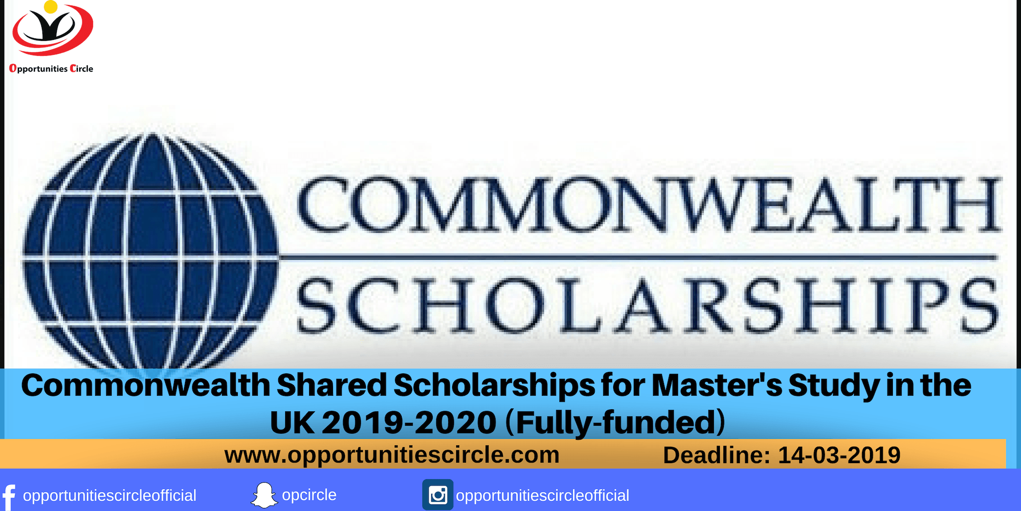 Commonwealth Shared Scholarships for Master's Study in the