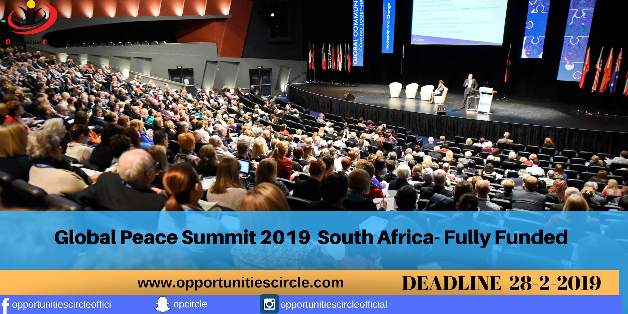 Global Peace Summit South Africa 2019 (Fully-funded