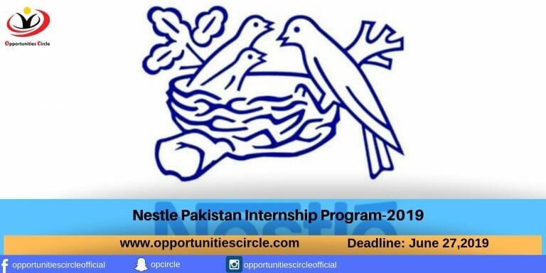Nestle Pakistan Internship Program-2019 - Opportunities Circle