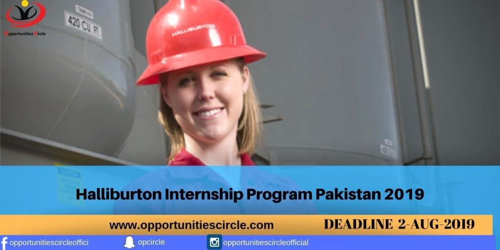 Halliburton Internship Program Pakistan 2019 - Opportunities
