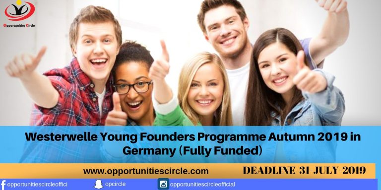 Westerwelle Young Founders Program Autumn 2019 in Germany (Fully Funded)