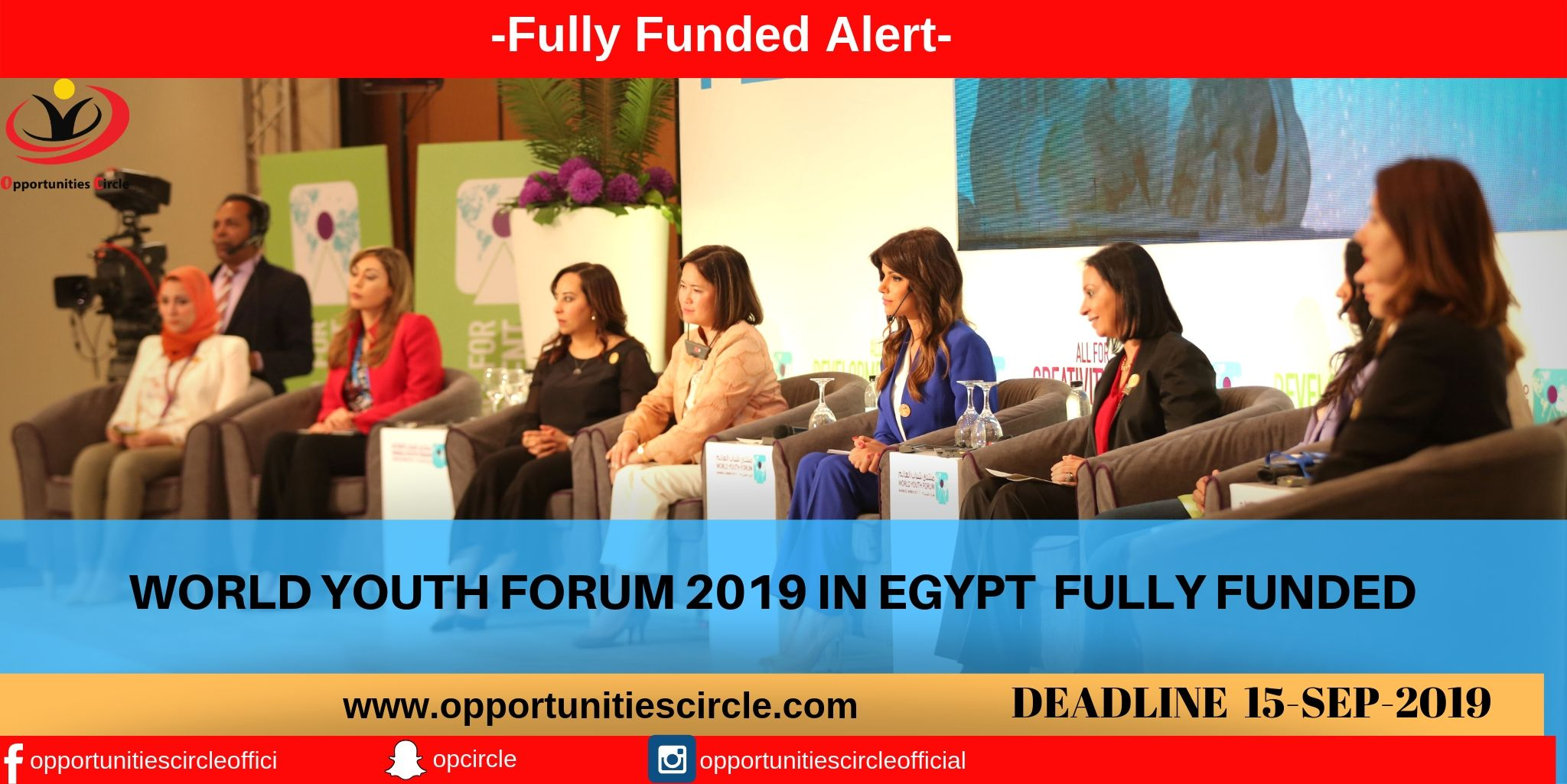 WORLD YOUTH FORUM IN EGYPT 2019 – FULLY FUNDED